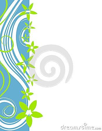 Free Retro Xmas Flower Border 2 Stock Images - 3497184