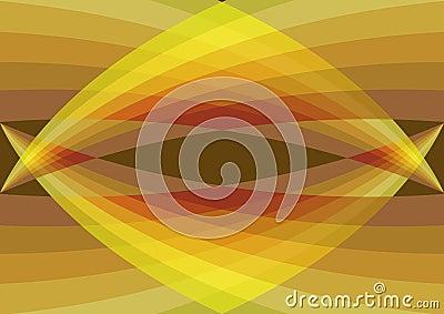 Retro yellow curves converge