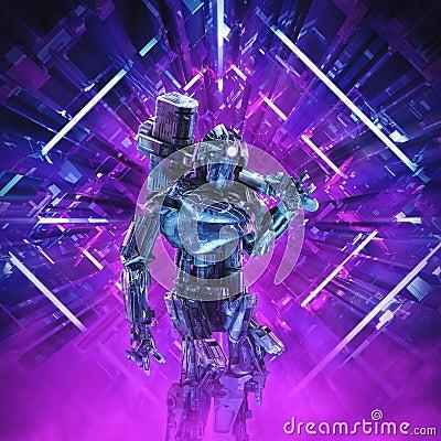 Free Return Of The Quantum Warrior Stock Image - 130072361
