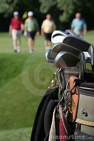 Free Returning Golfers And Golfbag Royalty Free Stock Image - 3004646