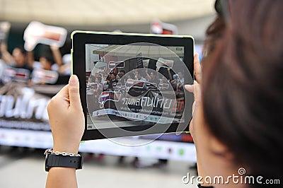 Reunião anticorrupção em Banguecoque Fotografia Editorial