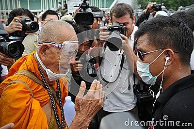 Reunião antigovernamental em Banguecoque Fotografia Editorial