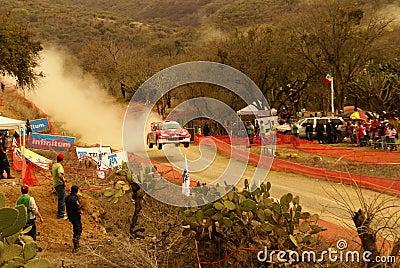 Reunião México da corona de WRC Mikko 2010 Hirvonen Imagem Editorial