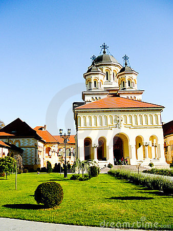 Reunification church in Alba Iulia, Romania Editorial Stock Photo
