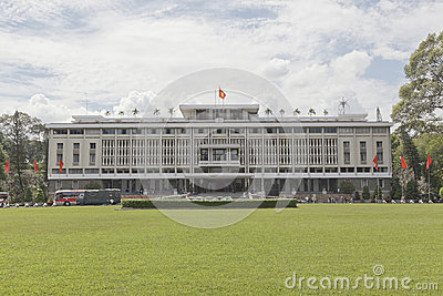 Reunification palace in Ho Chi Minh Editorial Stock Image