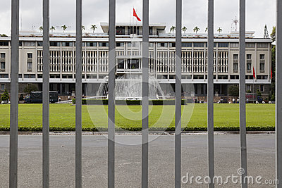 Reunification palace in Ho Chi Minh Editorial Stock Photo
