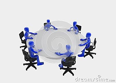 Reunión de mesa redonda