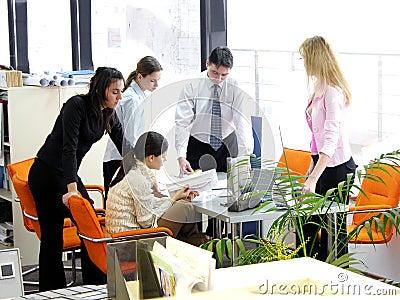 Reunião da equipe de funcionários
