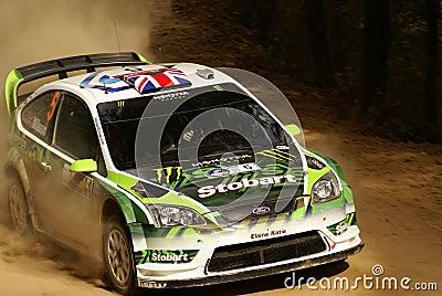 Reunião México da corona de WRC WILSON 2010 Fotografia Editorial