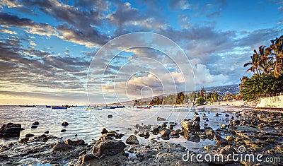 Reunion island coastline