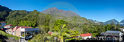 Reunion Island mountains