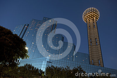 Reunion Tower at Dusk, Dallas, TX