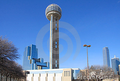 Reunion Tower and moderbuilding