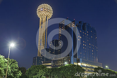 Reunion Tower at Night, Dallas, TX
