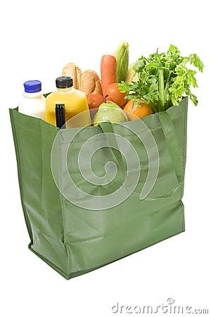 Free Reusable Bag Full Of Groceries Stock Photos - 3106473
