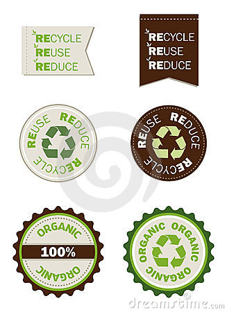 Reuse Recycle Reduce Organic Seals Stock Image - Image: 24026991