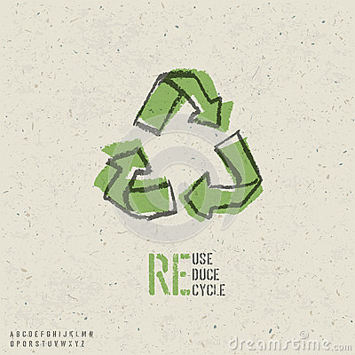 Reuse, reduce, recycle poster design.
