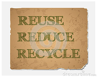Recycling, Reducing, and Reusing