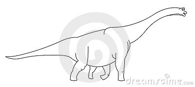 Reuze zwart-witte dinosaurus