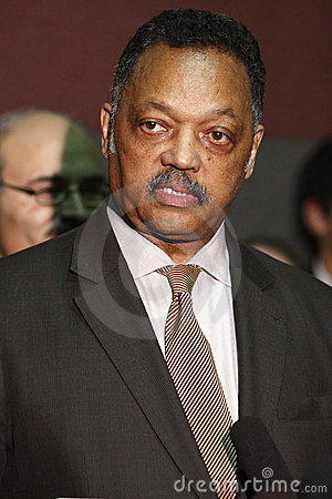 Rev. Jesse Jackson at press conference Editorial Image