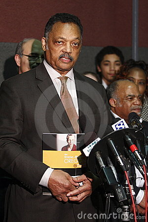 Rev. Jesse Jackson at press conference Editorial Photography