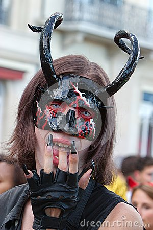 Free Reveller Dressed As A Devil Stock Images - 109271524