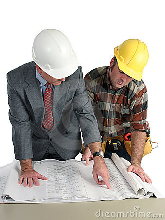 Free Reviewing Blueprints Stock Photo - 221910