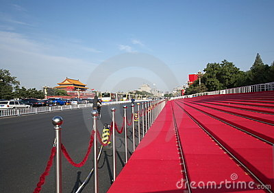 Reviewing stand in Beijing for 60th National Day Editorial Image
