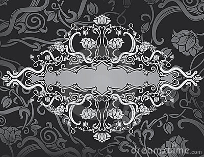 Revival ornate frame background