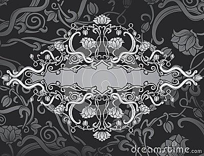 Revival ornate frame background