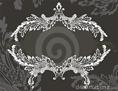 Revival ornate frame stencil