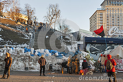 Revolution in Ukraine. EuroMaidan. Editorial Stock Photo
