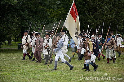 Revolutionary war reenactment Editorial Photo