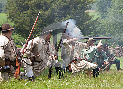 Revolutionary war reenactment Editorial Stock Image