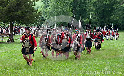 Revolutionary war reenactment Editorial Stock Photo
