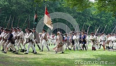 Revolutionary war reenactment Editorial Stock Image