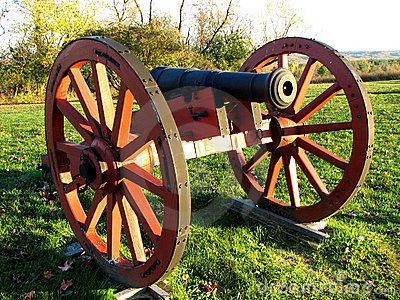 Revolutionary War Time Cannon Royalty Free Stock ...