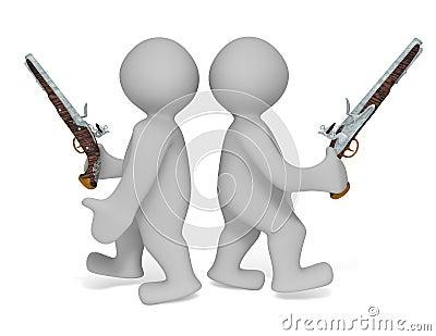 Revolver duel