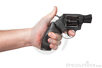 Revolver Gun in hand