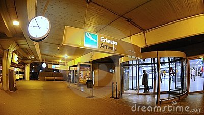 Revolving door in Budapest aiport Ferihegy Editorial Photography