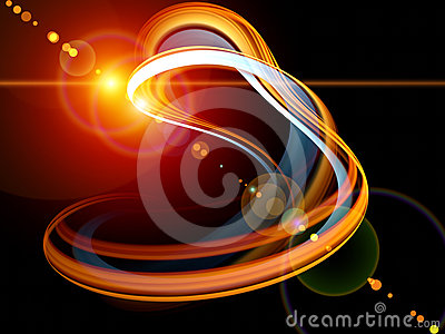 Revolving light trail
