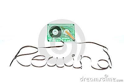 Rewind cassette tape