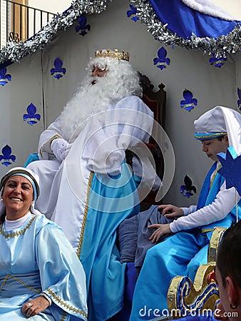 Rey en el desfile del duodécimo día Imagen editorial