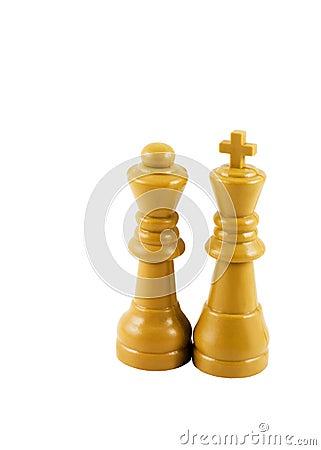Rey y reina del ajedrez