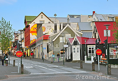 Reykjavik downtown Editorial Stock Image
