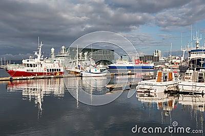 Reykjavik harbor Editorial Photo