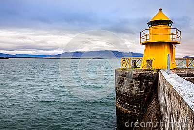 Reykjavik harbor lighthouse