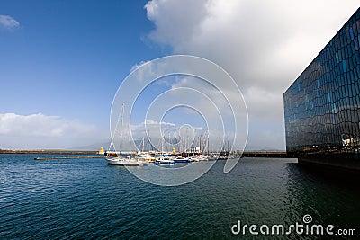 Reykjavik marina Editorial Image
