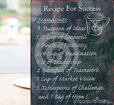 Rezept für Erfolg