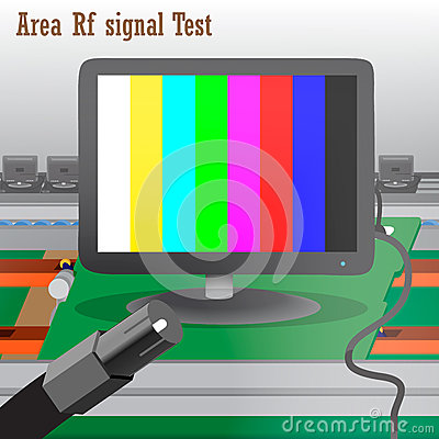 Rf signal Test in Process Production Television